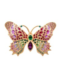Irie Embellished Butterfly Pin Jay Strongwater Multi Colors