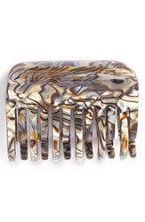 France Luxe Large Double Tooth Jaw Clip Beige Onyx