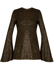 Ellery Inception Bell Sleeved Top Gold