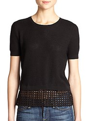 Sachin Babi Leo Mesh Detail Sweater Black