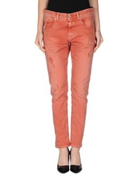 Two Women In The World Denim Pants Brick Red