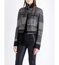 Haider Ackermann Collared Metallic Jacket Black