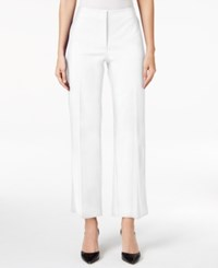 Alfani Straight Leg Cropped Pants Only At Macy's Bright White