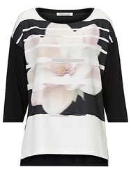 Betty Barclay Embellished Top Black Cream