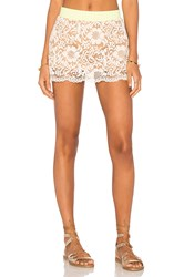 Maaji Alpine Suede Mini Skirt Beige