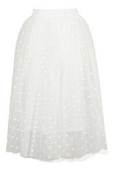 Layered Spot Mesh Midi Skirt By Rare Cream