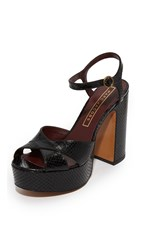 Marc Jacobs Debbie Platform Sandals Black