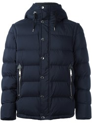 Burberry Padded Hooded Jacket Blue