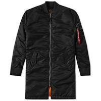 Alpha Industries Ma 1 Vf 59 Long Flight Jacket Black