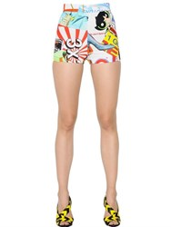Moschino Fresh Printed Cotton Drill Shorts