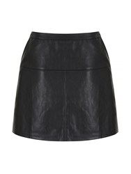 Mela Loves London Faux Leather Mini Skirt Black