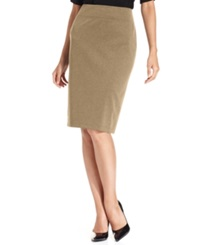 Style And Co. Pull On Ponte Knit Pencil Skirt