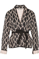 Isabel Marant Orsen Quilted Printed Cotton Jacket Black