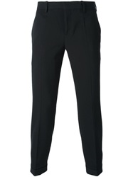 Neil Barrett Button Cuff Trousers Black