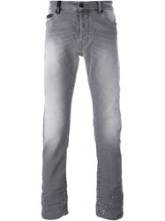 Marcelo Burlon County Of Milan Distressed Detail Jeans Grey