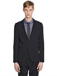 Emporio Armani Stretch Wool Honeycomb Jacket
