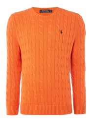 Polo Ralph Lauren Cable Knit Cotton Jumper Orange