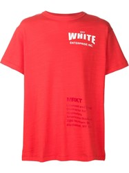 Off White Printed T Shirt Red