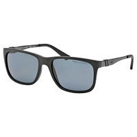 Polo Ralph Lauren Ph4088 Square Polarised Sunglasses Matte Black
