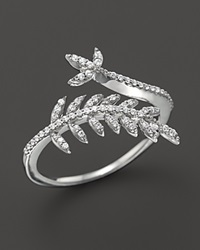 Bloomingdale's Diamond Leaf Ring In 14K White Gold .20 Ct. T.W.