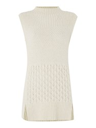 Linea Limited Cable Knitted Tunic With Alpaca Ivory