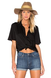 American Vintage Arowell Button Down Top Black