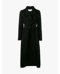 Harris Wharf Virgin Wool Duster Coat Black