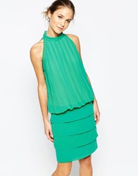 Traffic People Chiffon Bold Sweet Charity Dress With Halterneck Green