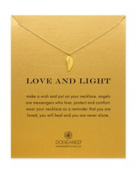 Dogeared Reminder 14K Gold Dipped Guardian Angel Wing Charm Necklace