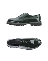 Pennyblack Lace Up Shoes Dark Green
