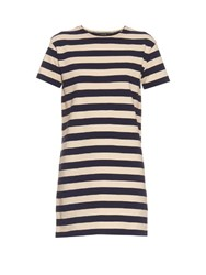 Nlst Breton Stripe Cotton Jersey Dress White Navy