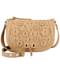 Nine West Evelina Crossbody Dark Camel