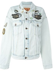 Marc Jacobs Embellished Denim Jacket White