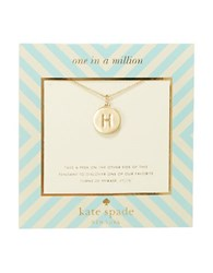 Kate Spade One In A Million Letter H Pendant Necklace Gold