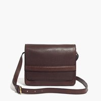 Madewell The Albury Crossbody Bag In Leather Rich Brown