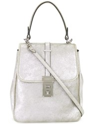 Lanvin Medium 'Looka' Shoulder Bag Metallic