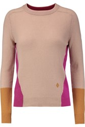 Emilio Pucci Color Block Cashmere Sweater Neutral