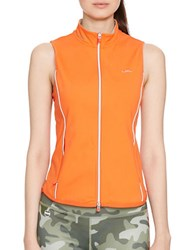 Lauren Ralph Lauren Full Zip Mockneck Vest Orange