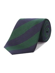 Chester Barrie Patterned Tie Green