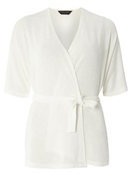 Dorothy Perkins Wrap Belt Cardigan White