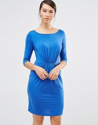 Lavand Gather Detail Shift Dress In Blue Blue