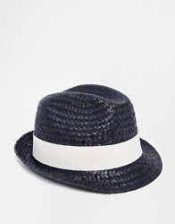 Catarzi Straw Hat Navy