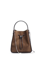 3.1 Phillip Lim 'Soleil' Small Colourblock Leather Drawstring Bucket Bag Green
