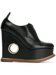 Paloma Barcelo 'Orense' Wedge Derby Shoes Black