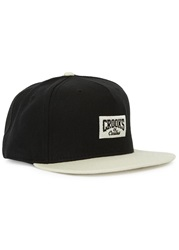 Crooks And Castles Ivory And Black Twill Cap