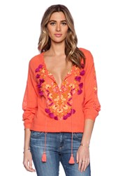 Antik Batik Dove Blouse Orange