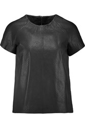 Muubaa Kamas Leather Top Black