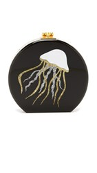 Edie Parker Oscar Jelly Fish Clutch Black