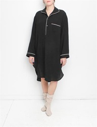 Creatures Of Comfort Nightgown Washed Linen Black