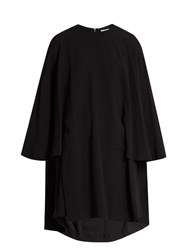 Balenciaga Crepe Cape Dress Black